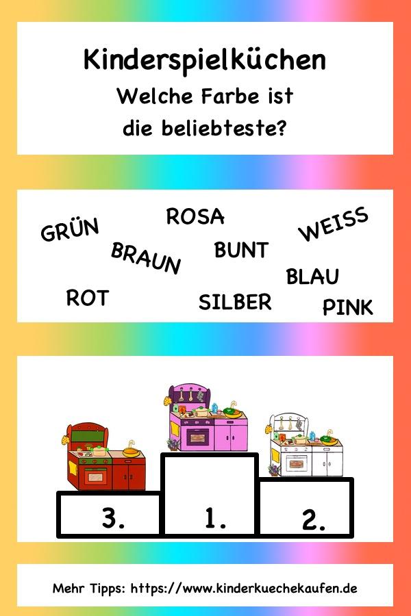 Kinderspielkueche - beliebteste Farben